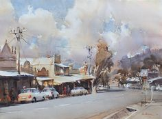 Home - Ross Paterson Australian Painting, Australian Artists, Watercolor And Ink, Watercolor Paintings, Watercolors, Names Of Artists, Country Scenes, Chiaroscuro, Life Drawing