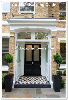 The front page can give an excellent first impression to emphasize the design of the house you have. Some modern front yard landscaping ideas will help… Continue Reading → Victorian Front Doors, Victorian Porch, Victorian Homes, 1930s Porch, House Front Door, House With Porch, House Entrance, Entrance Hall, Porch Tile
