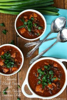 Chipotle Black Bean and Sweet Potato Quinoa Chili - Vegan, Gluten-Free, Dairy-Free | The Healthy Family and Home