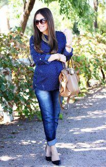 7 peças chave para usar durante e depois da gravidez: jeans