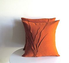 sculptural linen pillow by Yorktown Road
