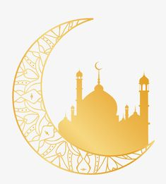 Islam Mosque Ramadan moon decorations PNG and Vector -