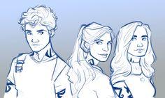 Julian, Emma, and Christina by emmilinne (tumblr)