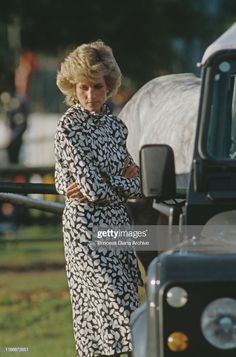 Diana, Princess of Wales during a polo match on Smith's Lawn at the. News Photo : Diana, Princess of Wales during a polo match on.