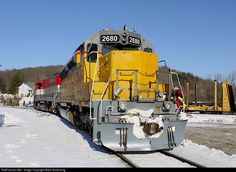RailPictures.Net Photo: NECR 2680 New England Central EMD SD40-2 at Franklin, Connecticut by Mark Schenking