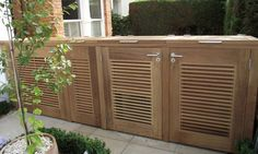 Bespoke bike storage in Iroko