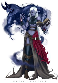 Drow Summoner by Waystone