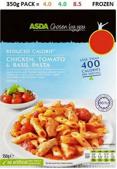Syn value Asda Slimming World, Slimming World Syn Values, Slimming World Recipes, Basil Pasta, Diet Recipes, Frozen, Meals, Sweet, Fill