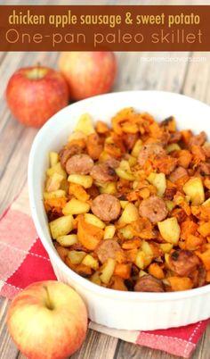 Chicken Apple Sausage Sweet Potato Apple Skillet Dinner