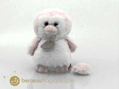 Pingouin musical rose - Doudou et compagnie - Berceaumagique.com