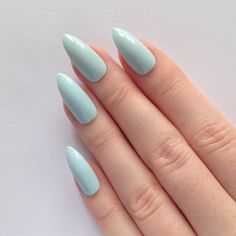 Pastel Blue Stiletto nails, Nail designs, Nail art, Nails, Stiletto nails, Acrylic nails, Pointy nails, Fake nails