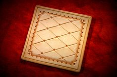 Hand Tooled Full Grain Leather Coasters - Great designs