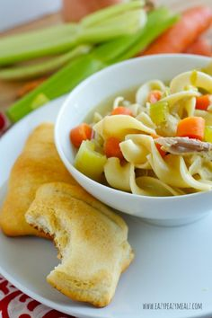 Chicken noodle soup for dinner