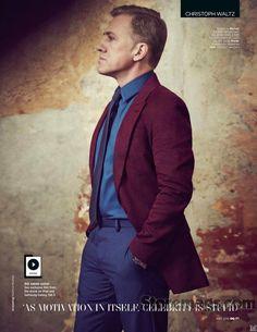 Christoph Waltz para British GQ Mayo 2015 por Matthew Brookes