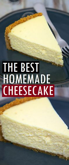 The Best Homemade Cheesecake get the secret for the lightest and fluffiest cheesecake ever! bestdessert homemade cheesecake cake cheesecakerecipe bestrecipe dessert is part of Homemade cheesecake - Fluffy Cheesecake, Easy No Bake Cheesecake, Best Cheesecake, Cheesecake Cookies, Classic Cheesecake, Cheesecake Bites, Best Homemade Cheesecake Recipe, Baked Cheesecake Recipe, Homemade Recipe