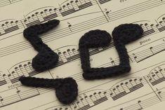 Crochet Music Applique Free Patterns