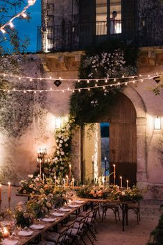 beautiful laid back tablesetting with rustic elements and lots of fresh florals for an Italian wedding dinner. Whimsical Romance in Sicily - The Lane dinner location Gorgeous Italian Al fresco dinner Tuscan Wedding, Rustic Italian Wedding, Rustic Italian Decor, Wedding Dinner, Wedding Ceremony, Italian Wedding Venues, Italian Weddings, European Wedding, Wedding Goals