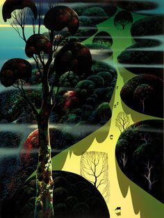 """© 2011 Eyvind Earle Publishing Title:Central California 40"""" X 30"""" To Order  ----  Please Call    831-625-1738 or Email:    info@gallery21.com"""