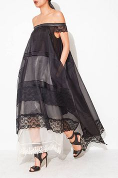 Organza and Lace Dress by Gary Graham   shopheist.com