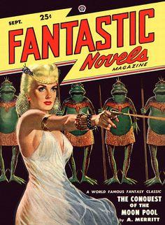 Fantastic Novels Volume 2 No. 3, September 1948  Cover art by Lawrence Sterne Stevens #pulp #fiction