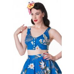 Top Débardeur Pin-Up Rétro Rockabilly Aloha Leena
