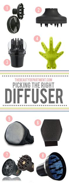 Curly haired girls, do you know which diffuser is best for your hair type? Read on!