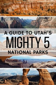 A guide to Utah's Mighty 5 National Parks #nationalpark #LiveTheAdventure #Travel #Exotic #ShermanFinancialGroup