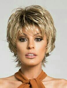 Short Synthetic Wig Curly Style Wig with Bangs Natural Hairline – WigStoreOnline Short Hairstyles For Thick Hair, Short Hair With Bangs, Short Hair With Layers, Wigs With Bangs, Short Hair Cuts For Women, Wig Hairstyles, Haircuts, Short Haircut, Wig Styles