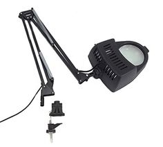Clamp on Swing Arm Lighted Magnifying Lamp Hobby Work Des...