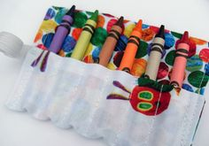 1 st Birthday Party Favor Crayon Roll Set of by homemadebylittleme, £2.50