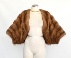 Zinman Mink / vintage 1950s mink fur by BreesVintageBoutique