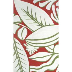 Tropicana Rug in Red