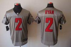 Nike Atlanta Falcons #2 Matt Ryan Grey Shadow Men's Stitched NFL Elite Jersey