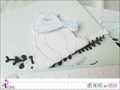 """Fati: Tampons et matrices de coupe (dies) #4enSCRAP """"Happy New Bear"""""""