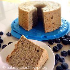 Baking Taitai 烘焙太太: Blueberry Chiffon Cake 蓝莓戚风蛋糕 (中英食谱教程)