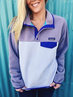 Patagonia Women's Lightweight Synchilla Snap-T Pullover- Tundra Purple from Shop Southern Roots TX