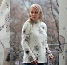 Купить Свитер к Рождеству. - свитер вязаный, зимняя сказка, рождественский свитер, зима 2017, koluchka