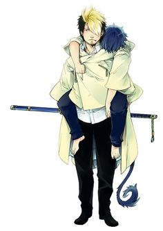 Blue Exorcist ~~~ Rin gets by with a little help from his friends.