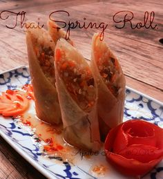 Mom's Recipe: Thai Spring Roll (Paw Pia Tord) -  learnt in Chiang Mai Thai Cookery School, Thailand :-)