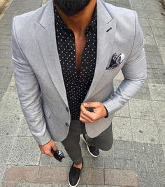 summer dressy // menswear, mens style, mens fashion, sneakers, blazer, polka dot                                                                                                                                                                                 Más