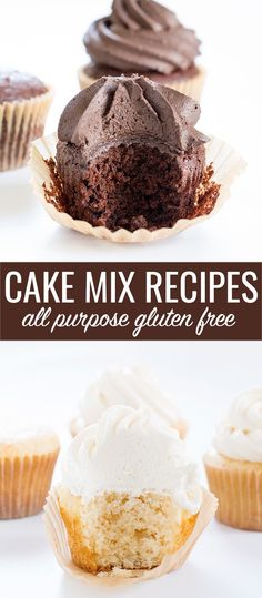 Easy gluten free cake mix recipes for basic chocolate and vanilla cakes. Keep them on hand and you'll never be without the perfect birthday cake!