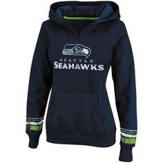 Seattle Seahawks Ladies Preseason Favorite II Pullover Hoodie - Navy Blue
