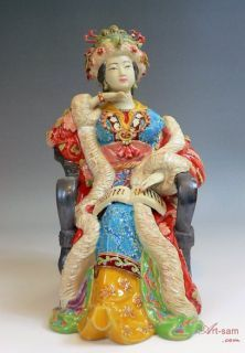 Great Beauty Dream of the Red Chamber Shiwan Ceramic Lady Figurine