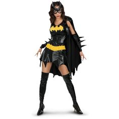 Batman can't have all the fun. Find your wings in this Batgirl Deluxe Costume.  #Batman #Batgirl #Costume