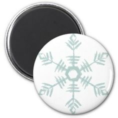 Snowflake Refrigerator Magnet