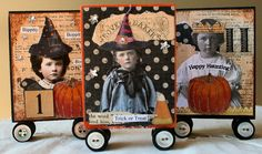 Halloween Block ATC's by Sugar Lump Studios, via Flickr