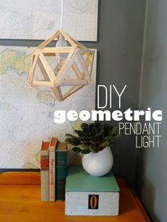 #DIY Chandelier | Geometric Pendant Light by @Megan Maxwell Padgett {revamp homegoods} | Supplies available at Joann.com #craftmonthlove