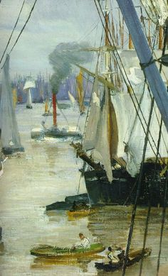 By James Abbott McNeill Whistler James Abbott Mcneill Whistler, American Impressionism, Post Impressionism, Holland, Nautical Art, Art Moderne, Art For Art Sake, American Artists, Modern Art