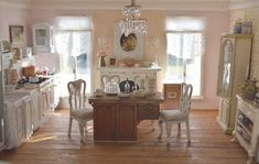 Love this kitchen in mini paris! Cynthia's Cottage Design
