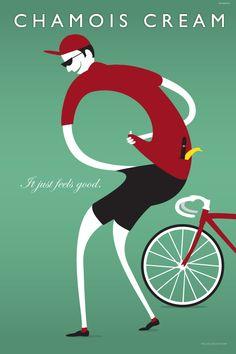 """Chamois Cream"" Art Print | Cycling Art of Michael Valenti"